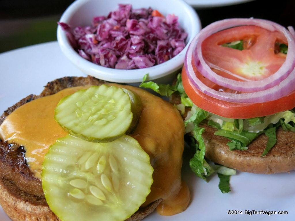 Veggie Grill  (CA, OR, WA west coast chain, USA). Very tasty vegan versions of classics like cheeseburgers, Caesar salad, and Buffalo wings.