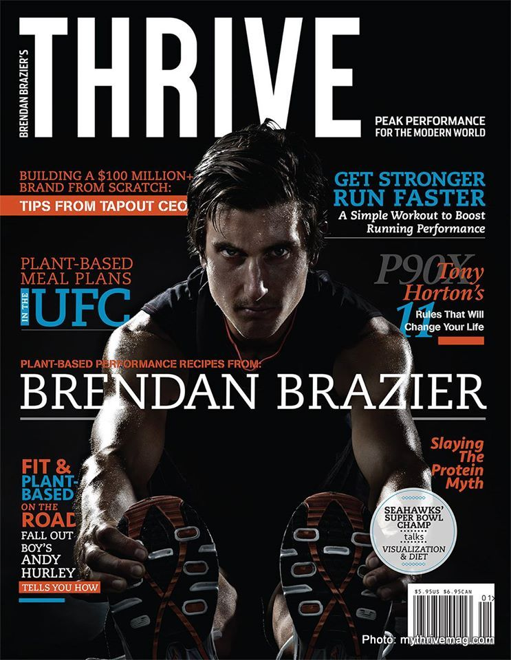 Subscription to Brendan Brazier's  Thrive Magazine  for plant-based athletes.