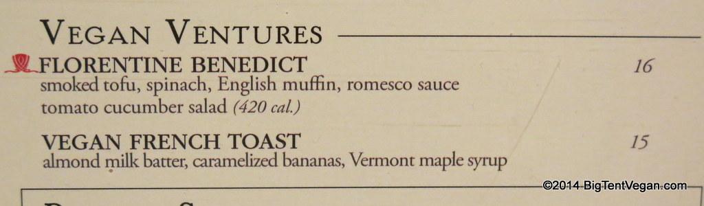 society cafe at encore (vegan breakfast menu as of dec 2014)
