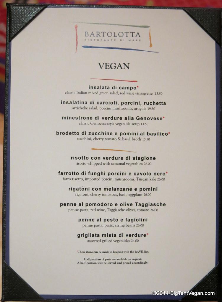 bartolotta at the wynn (vegan menu as of dec 2014)