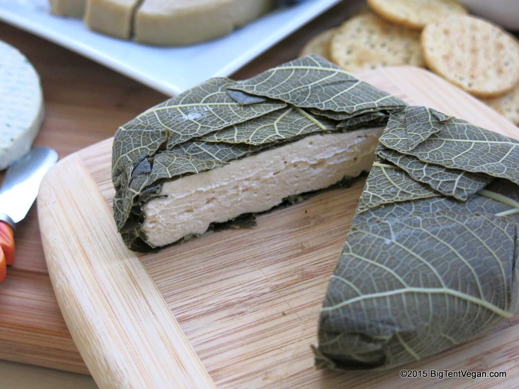 Vegan Fresh Loire Valley in a fig leaf cheese by  miyoko's kitchen