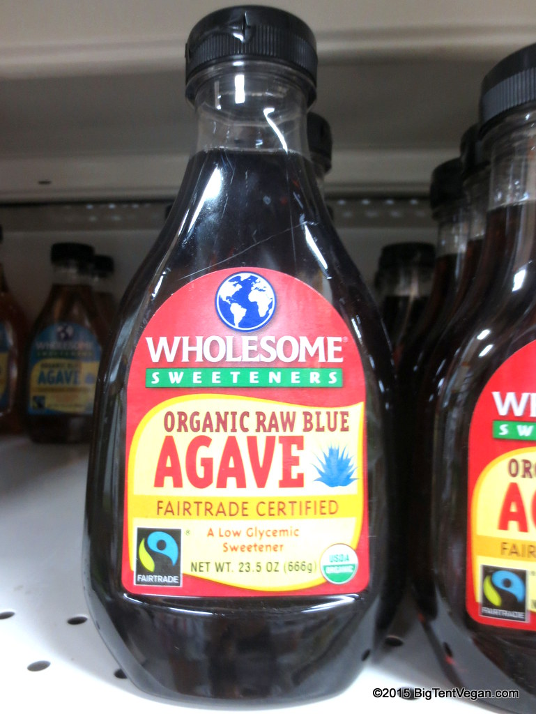 Organic Raw Blue Agave Nectar (the non-raw variety is much lighter in color; closer to the color of most honey).