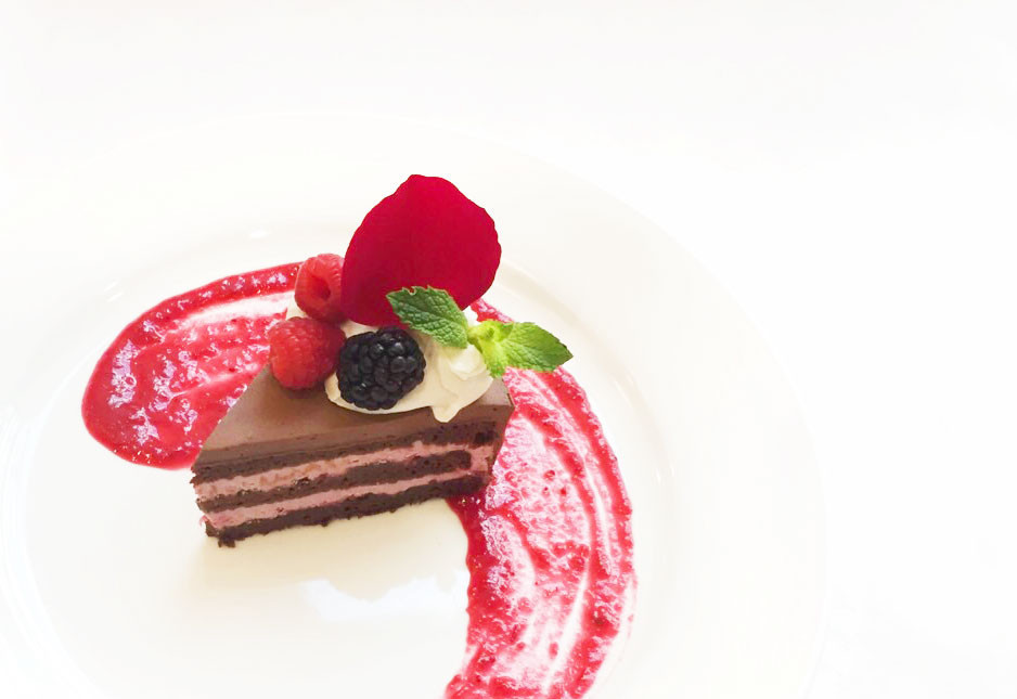 Chocolate Raspberry Cake from Pomegranate