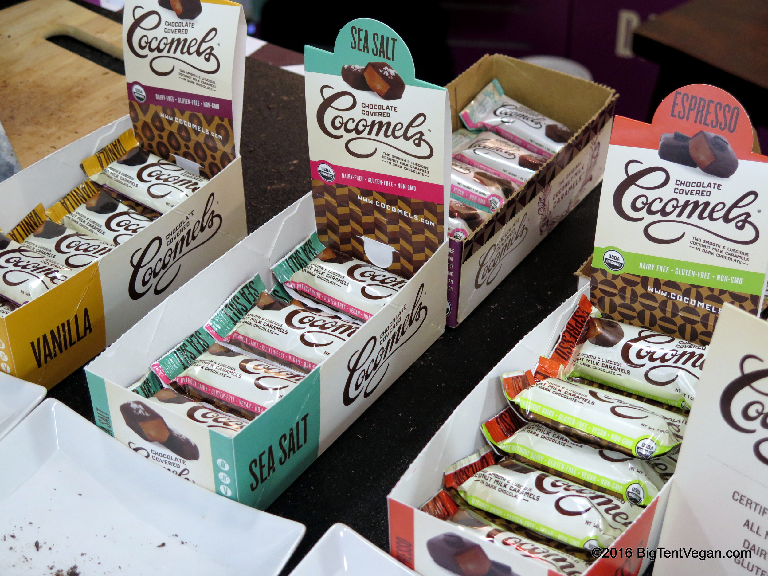 Love Cocomels! -- also met a woman working their booth who was a  20-year vegan!!  And her husband was a  40-year vegan!