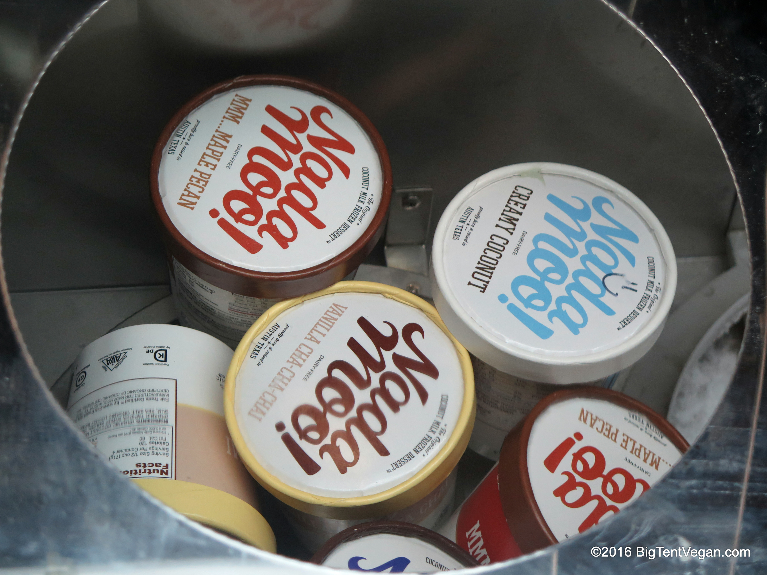 Lots of great vegan ice cream options on the market --I especially liked the coconut-milk-based NadaMoo.