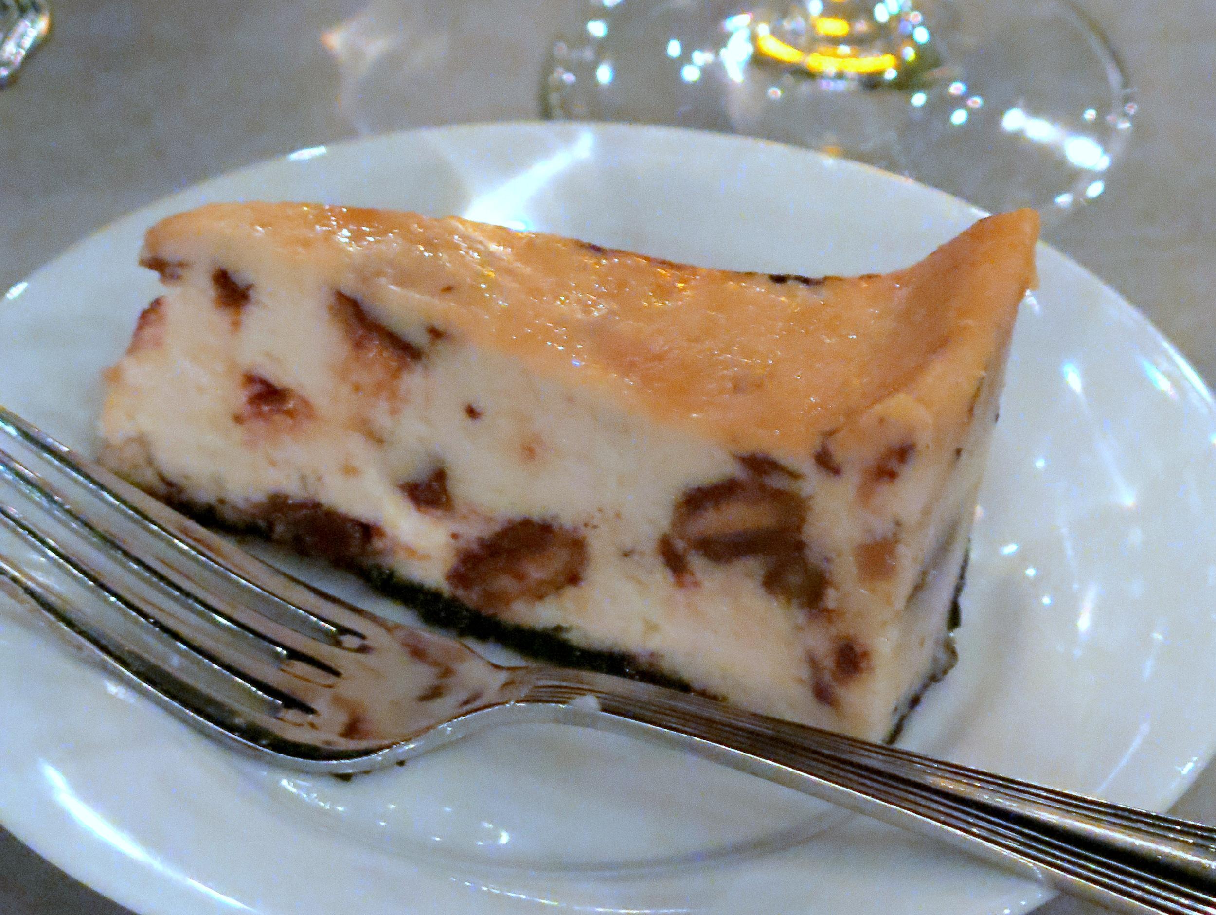 Dessert, too!! Butterfinger cheesecake (vegan, of course)