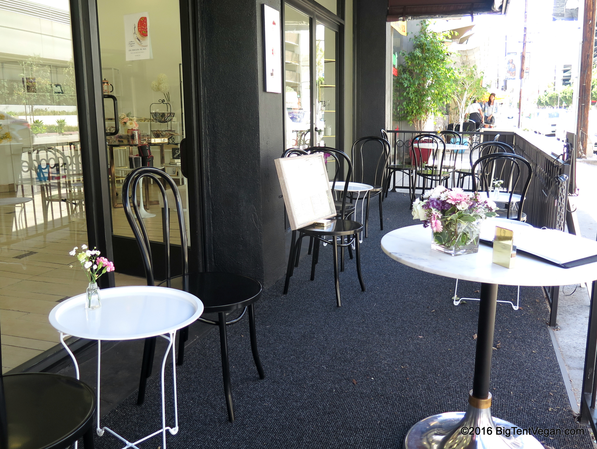 Lovely patio where you can enjoy your Pomegranate treats!