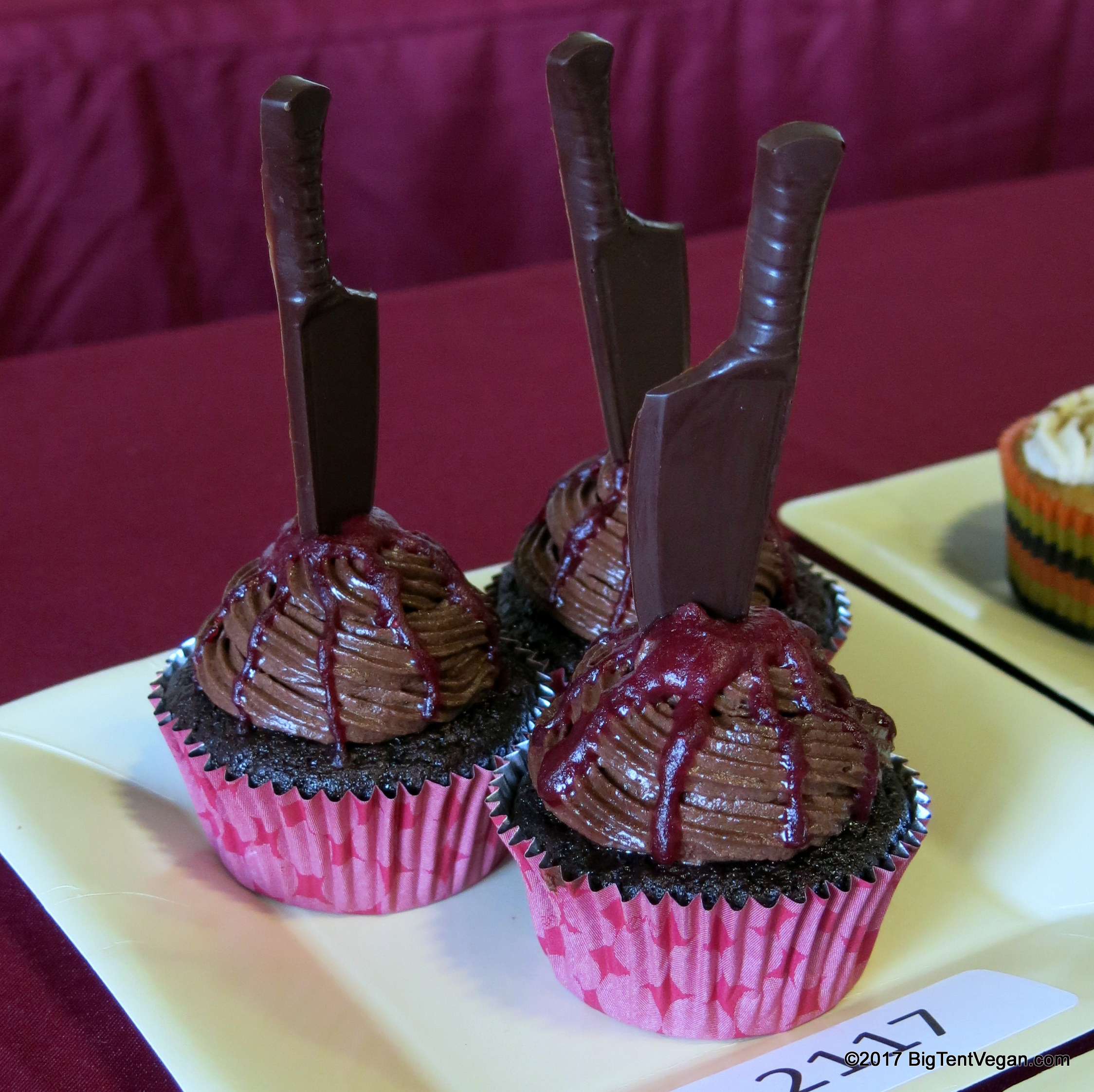 2nd Place: Romina Narang of  Light and Healthy Desserts  -- Dark Chocolate and Raspberry Cupcake / Death By Chocolate