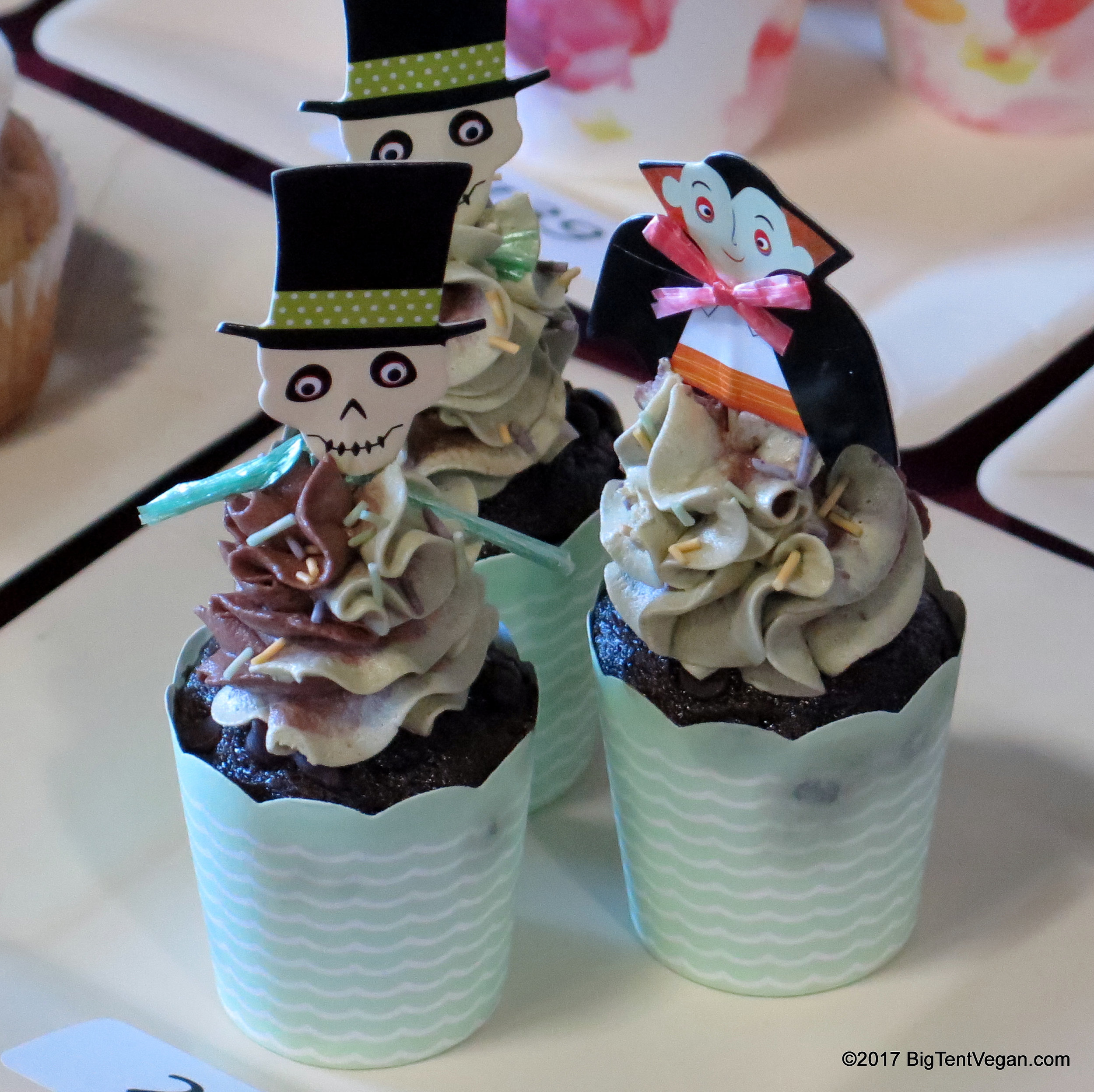 3rd Place: Breanna Schmit of  Abloom Bakeshop  -- Chocolate Matcha Mint Cupcakes