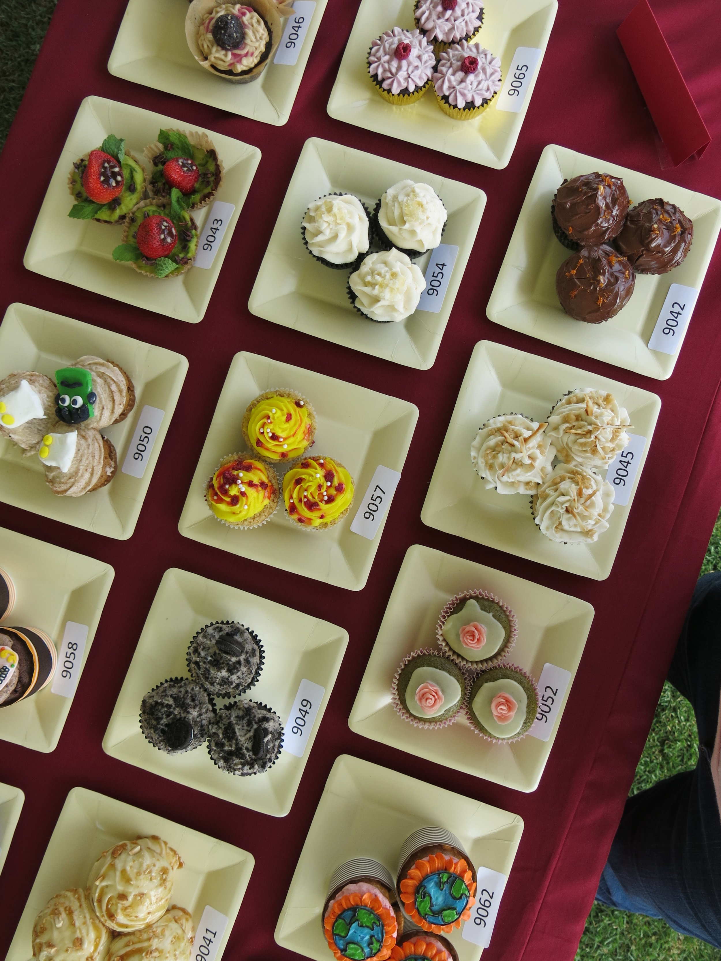 2016 socal vegfest cupcake entries top view.JPG