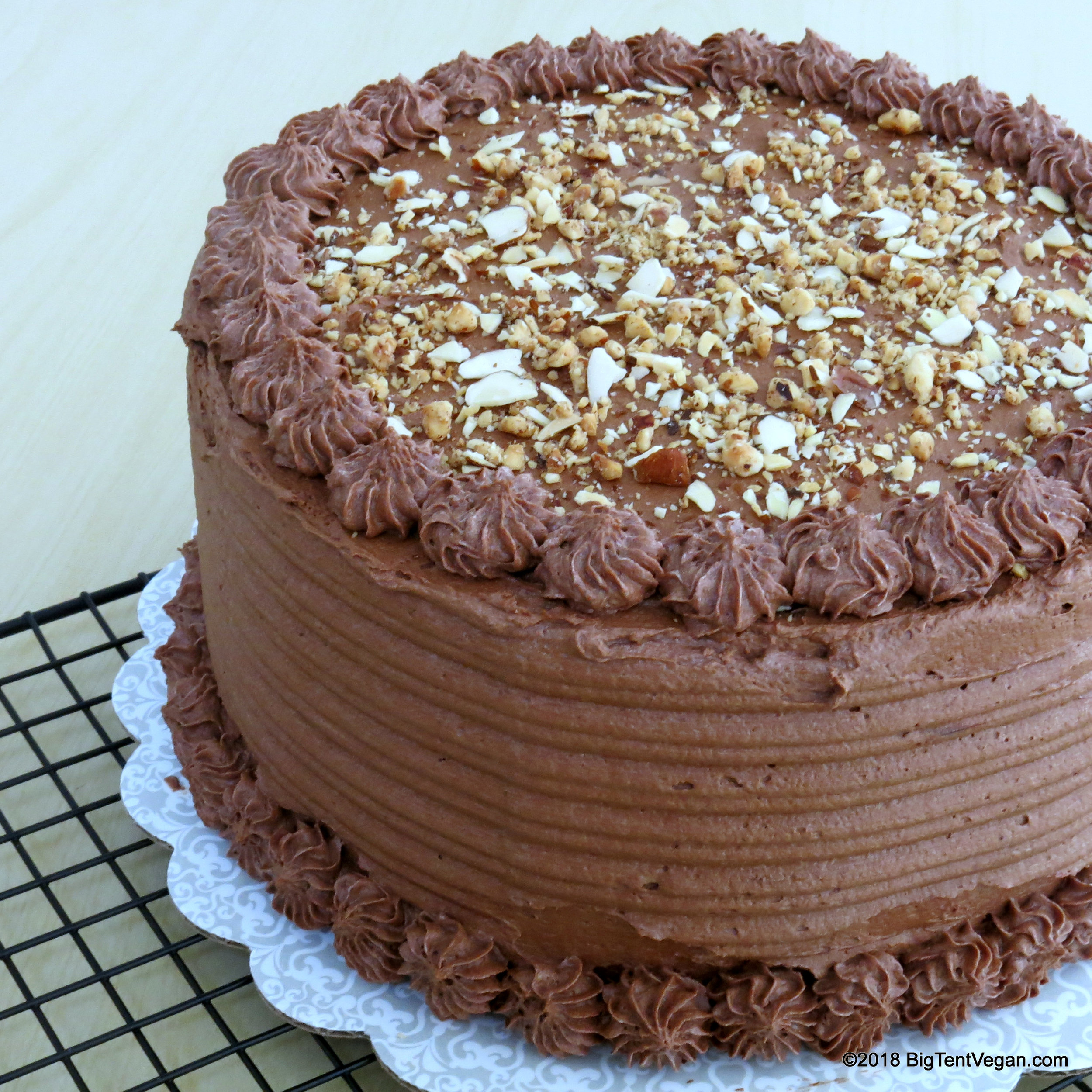 vegan chocolate almond hazelnut cake, 1st place in chocolate layer cake at the 2018 los angeles county fair