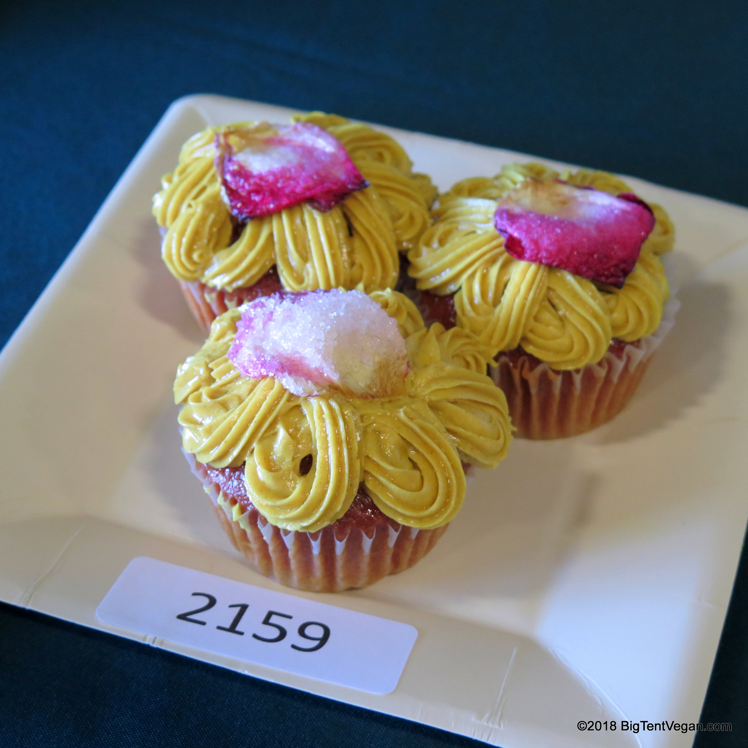 1st Place: Leiana Swadish     Golden Milk Cupcakes