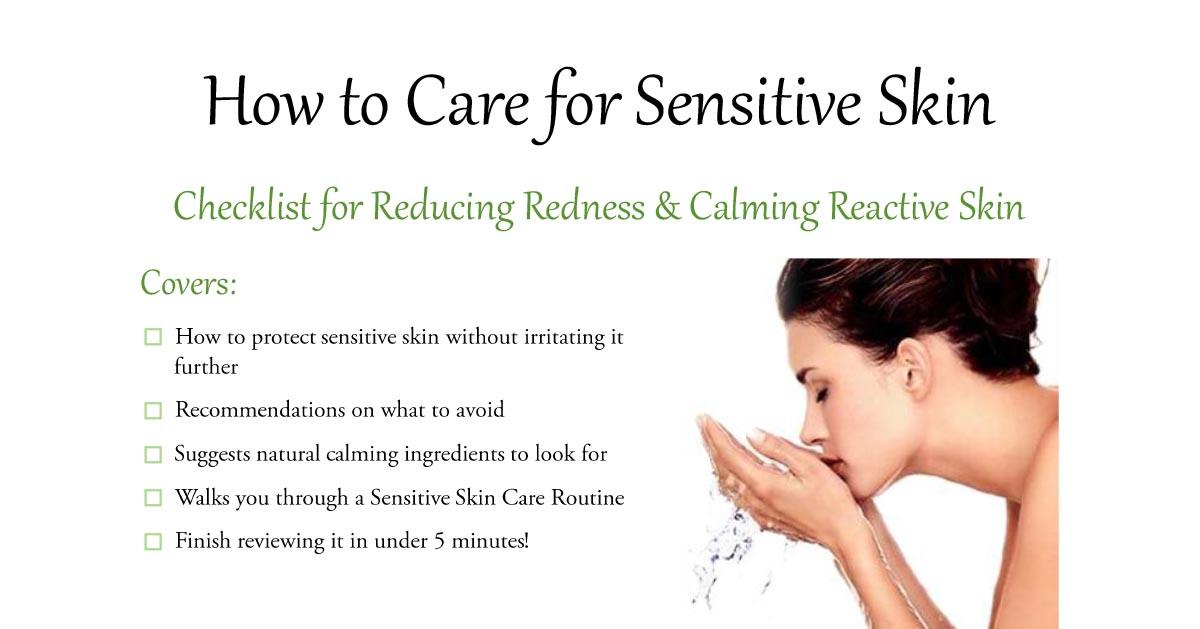 How to Calm Sensitive Skin Checklist