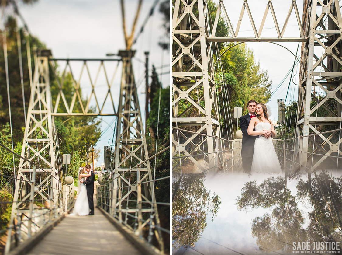 26 Spruce Street Suspension Bridge Bride Groom Portrait.jpg