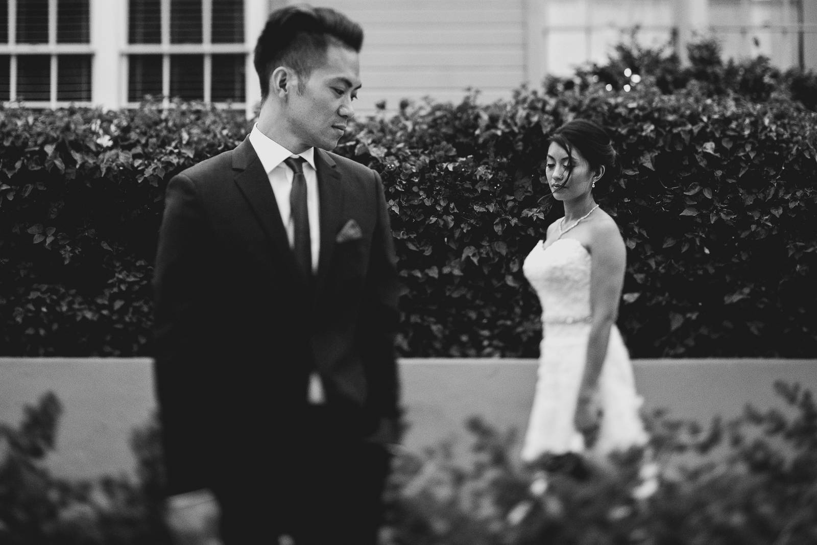 tilt-shift wedding photo