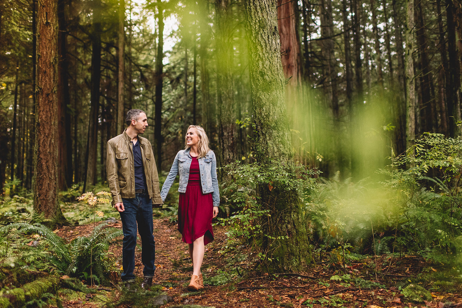 couple in canadian forest