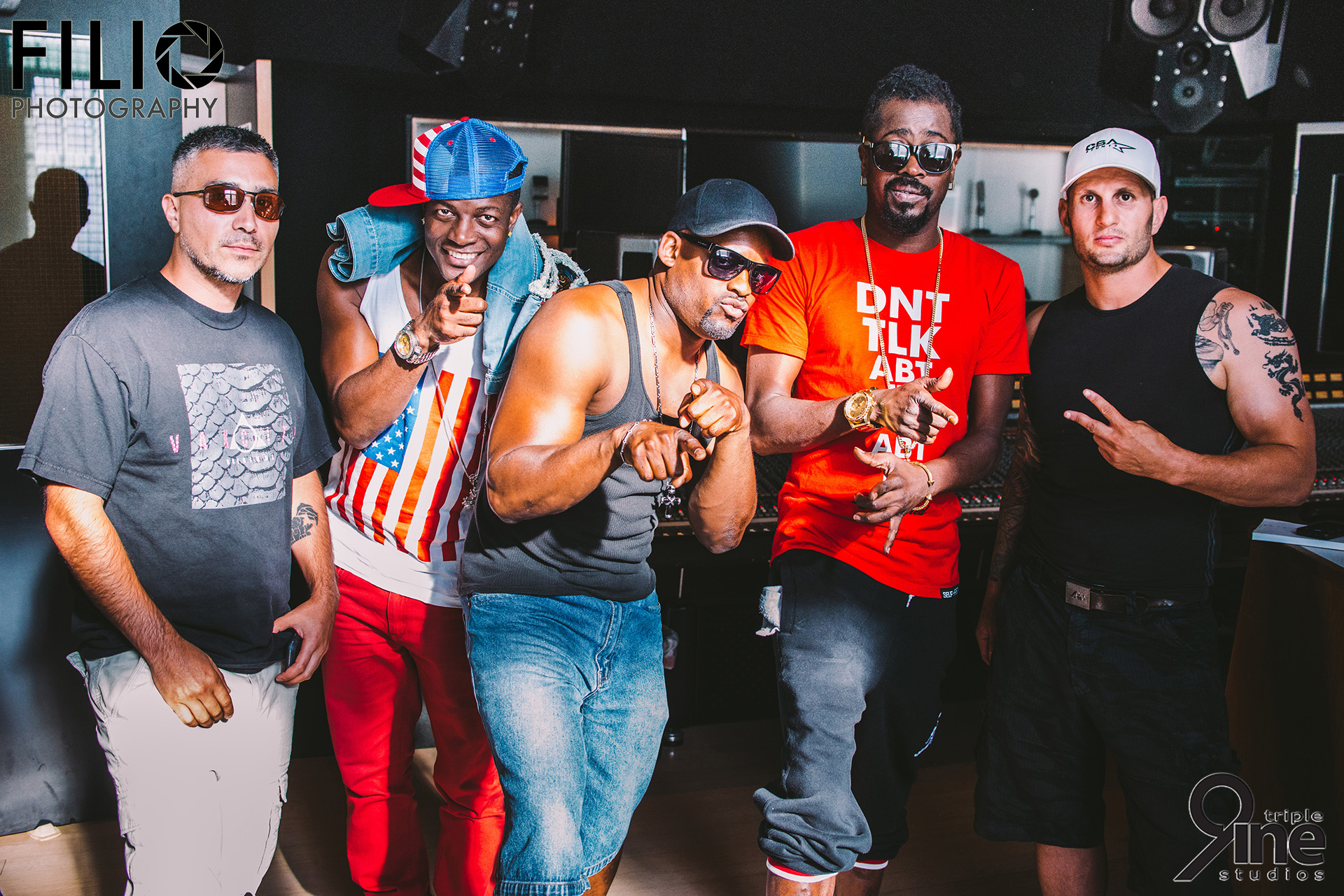 Shooting part of the video with Doron Bell and Beenie Man at Brian Adams recording studio in Vancouver, BC, Canada