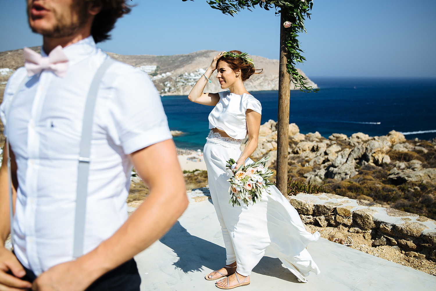 SALLY + ED   Family Island Wedding at Rocky Mansion Villa, Mykonos