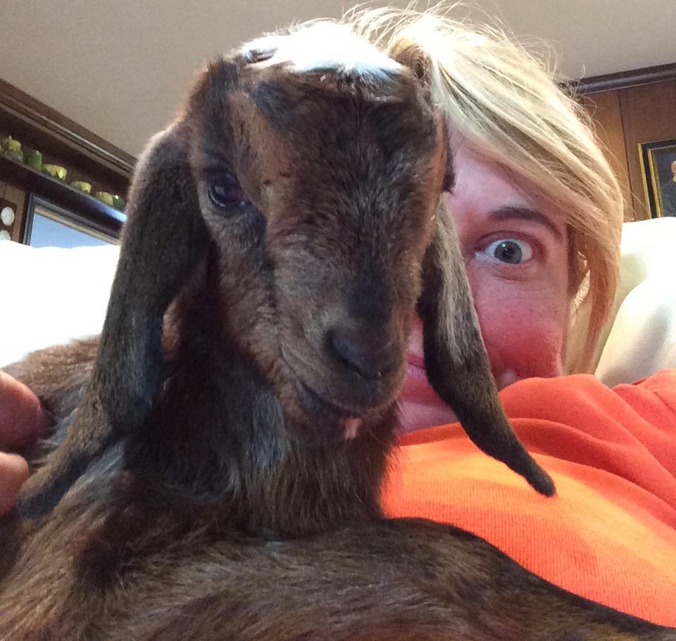 Selfie with Godmother Karen. :)