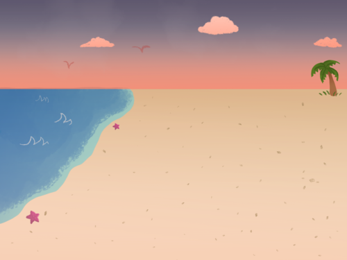 Beach Background: Dusk/Dawn