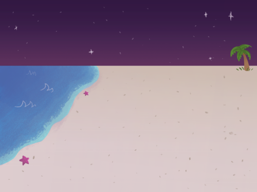 Beach Background: Night