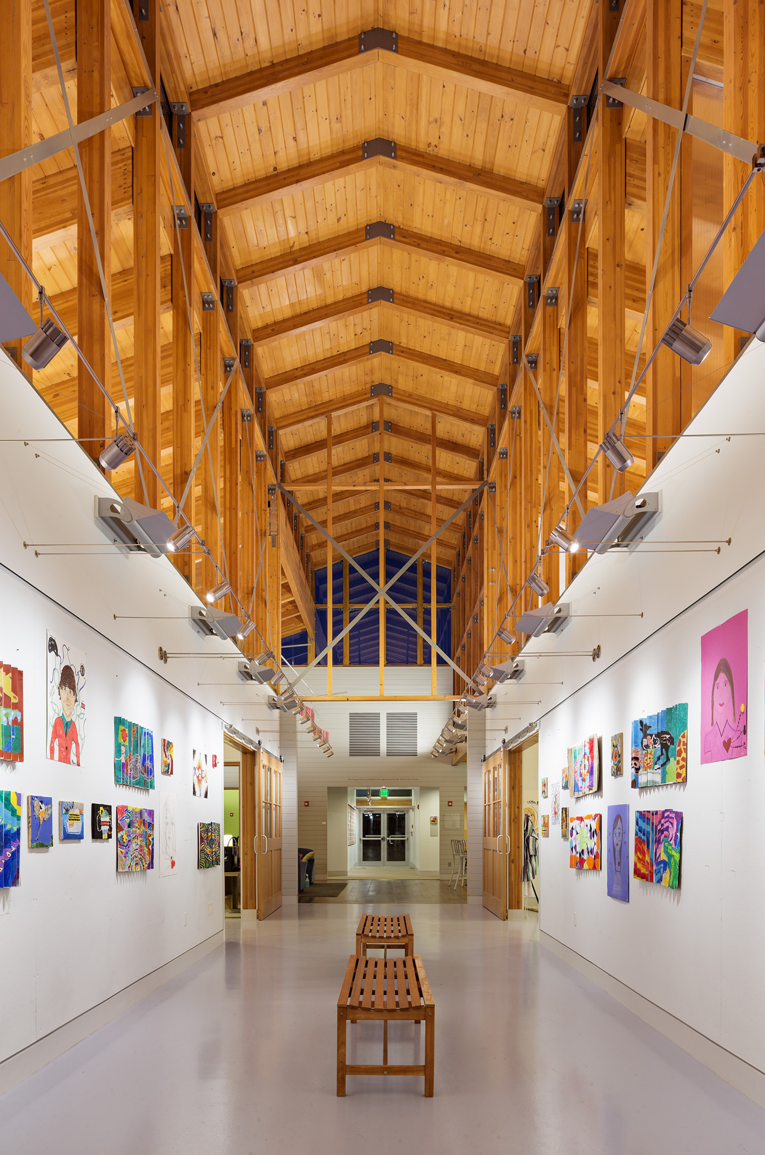 Indian Mountain School Student Center Gallery
