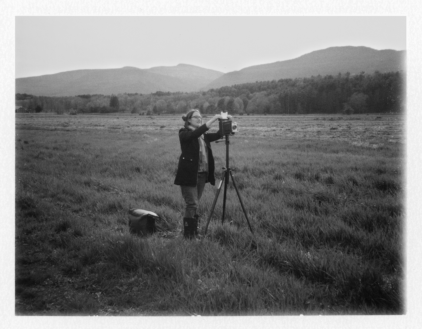 In the field with my 4x5 Camera
