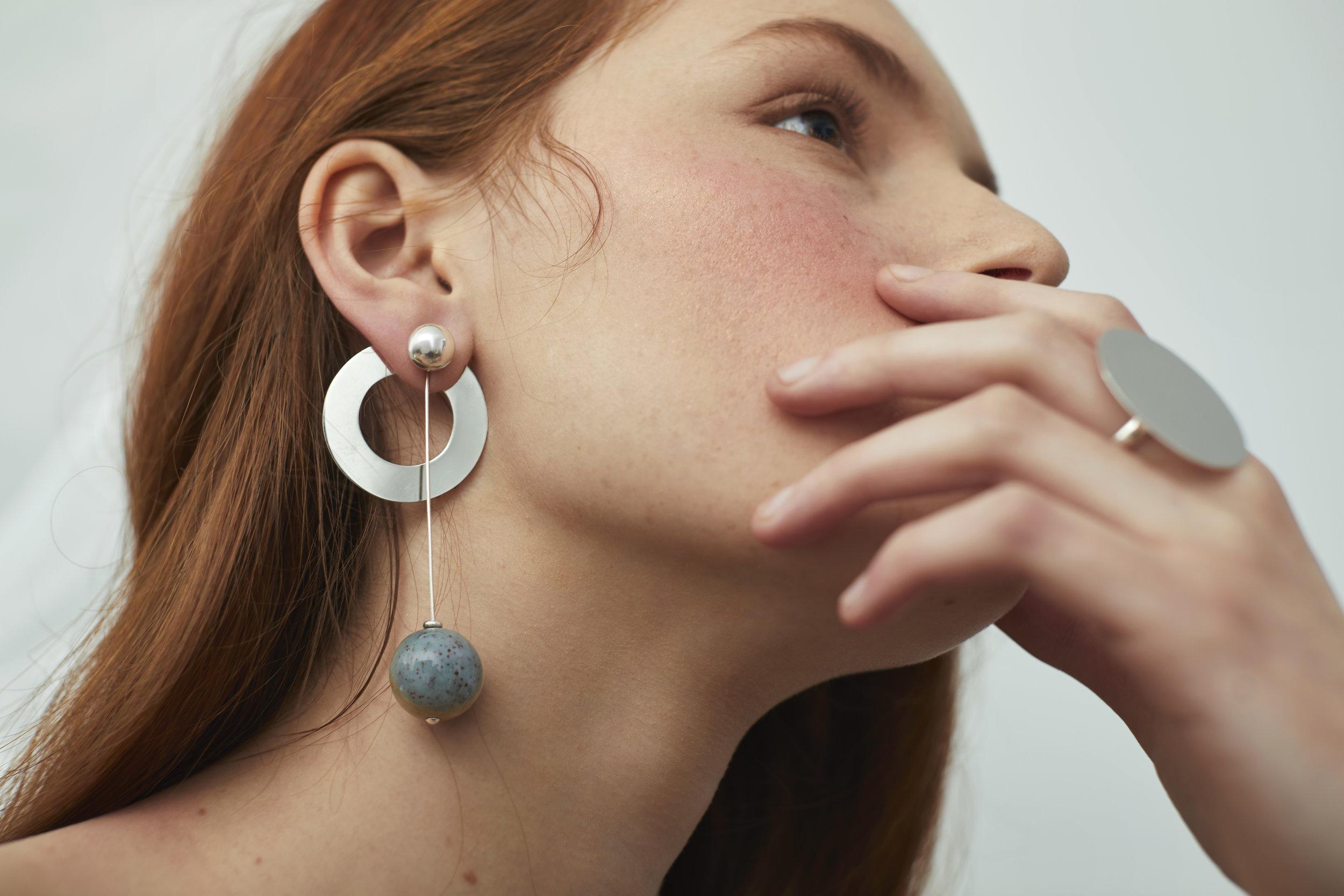 ▲ APHELION earring set, CONSONANCE ring
