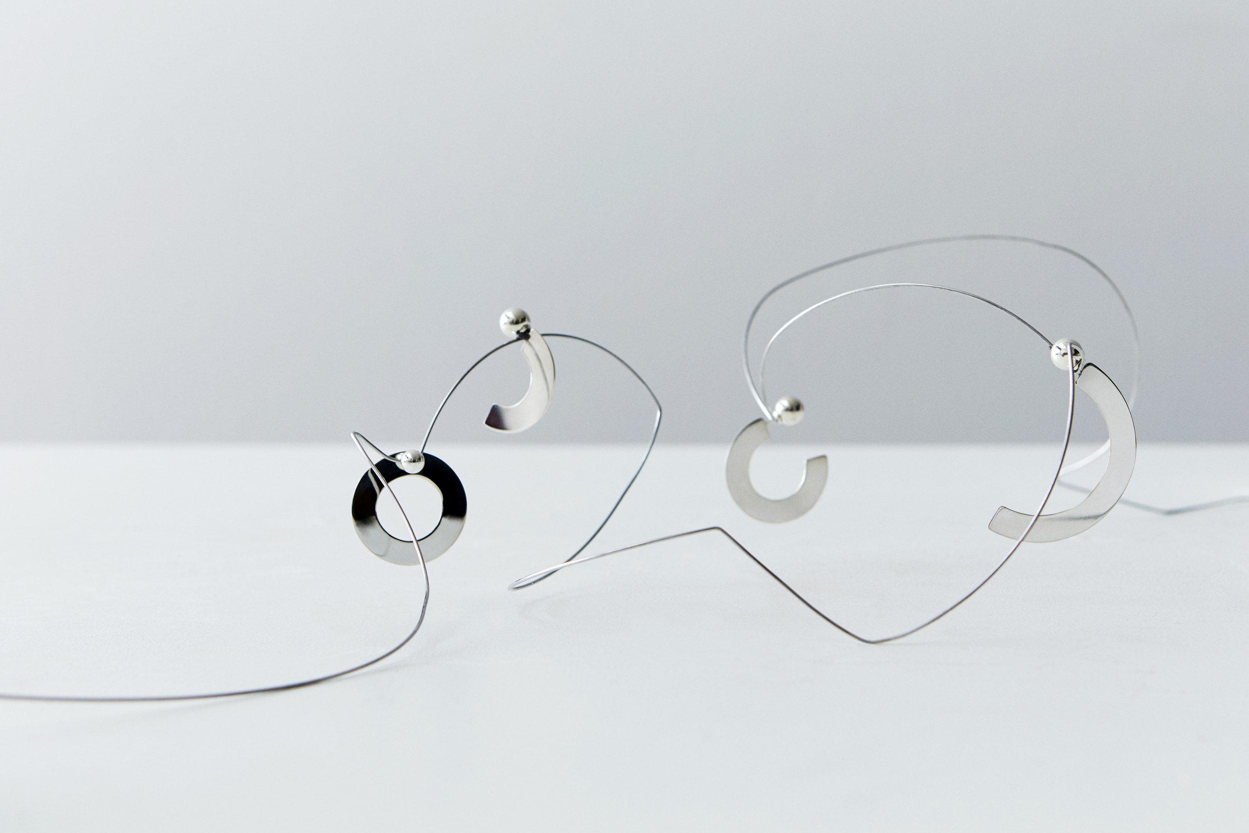 ▲ RESONANCE, SIGMA I, ZETA & SIGMA II earrings