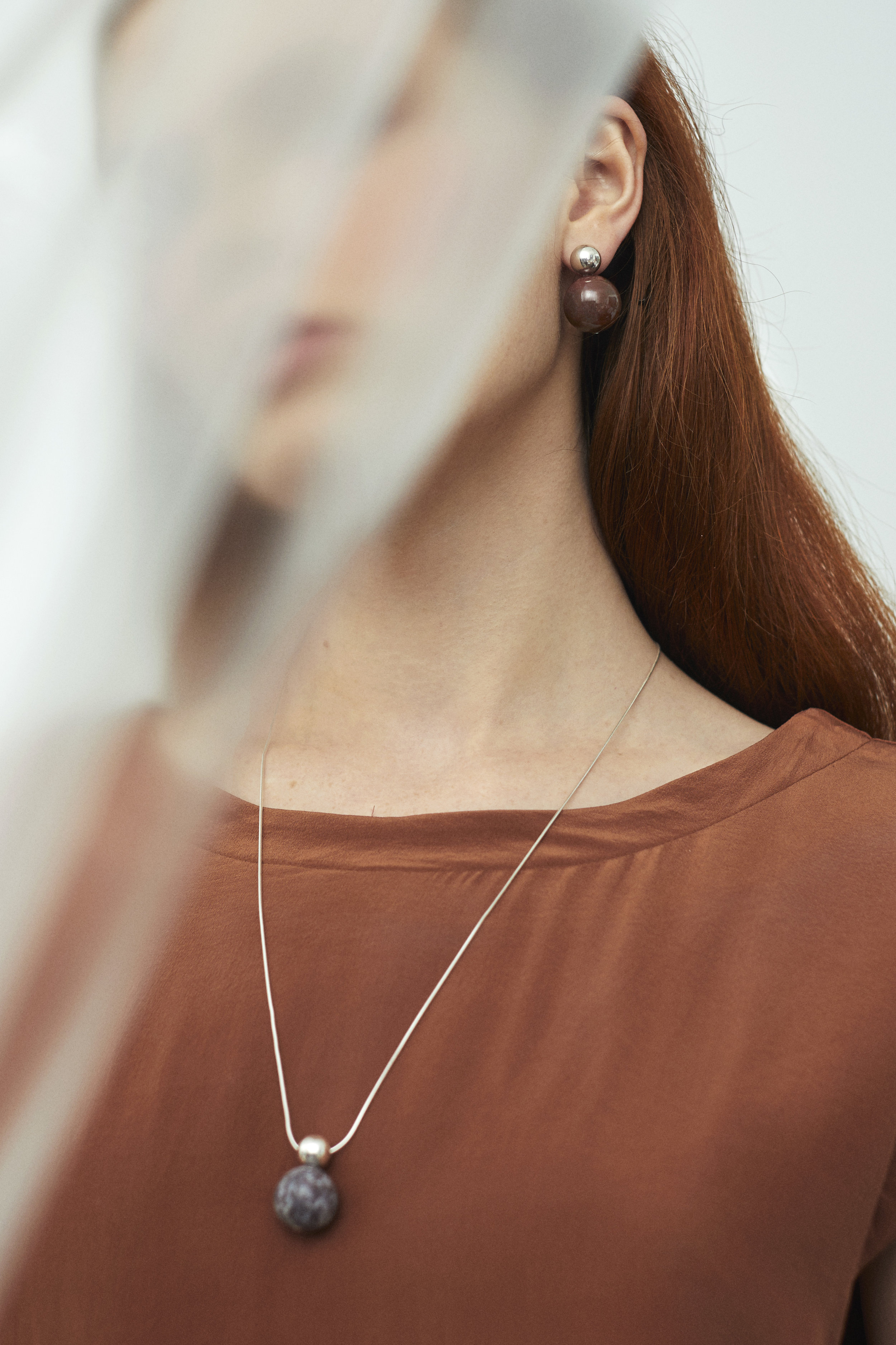 ▲ HEARTZ earrings and necklace