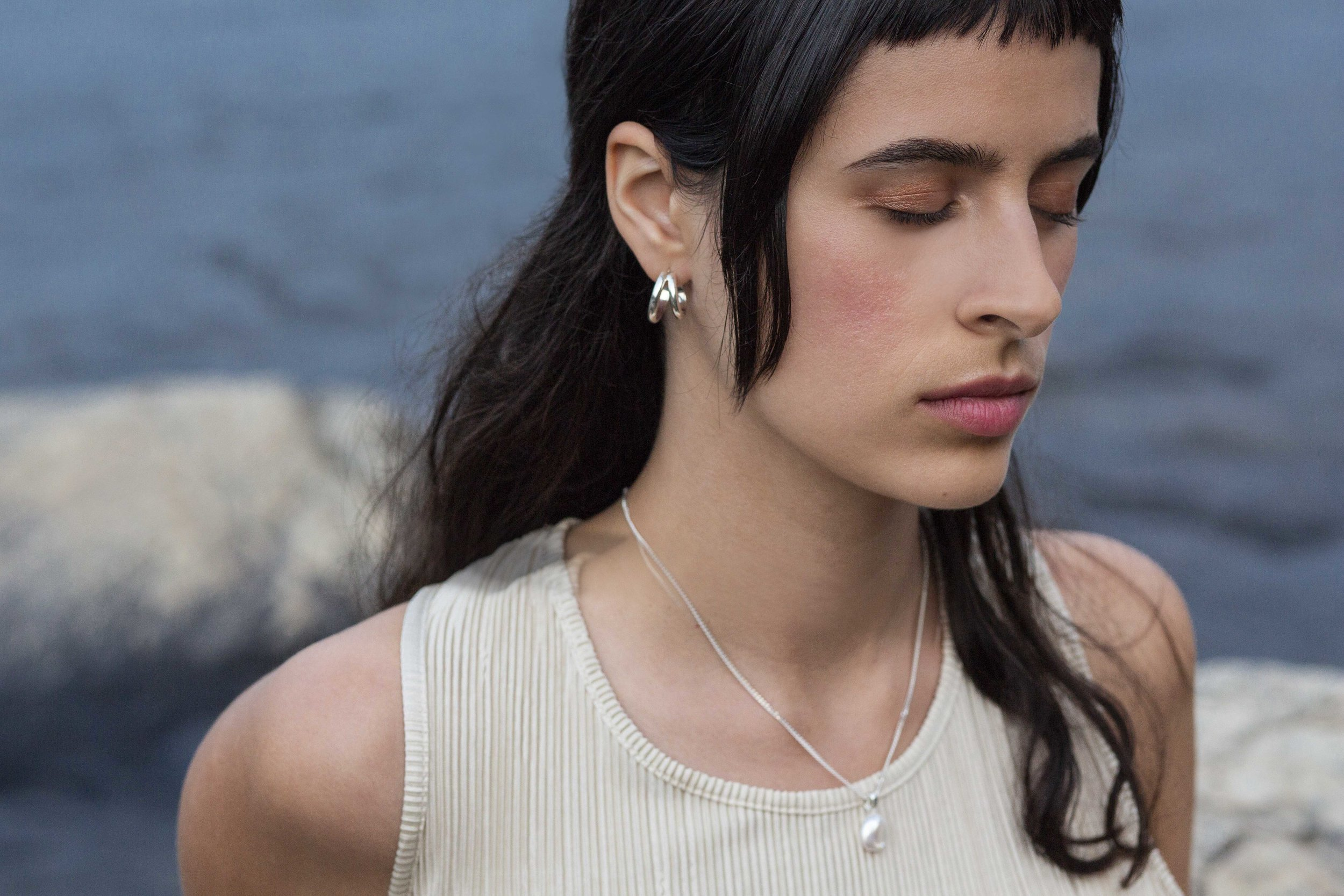 ▲ ONDE earrings ▲ SUZA necklace