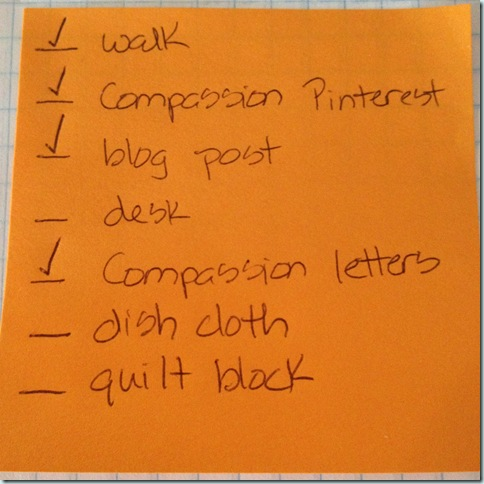 post it note to do list