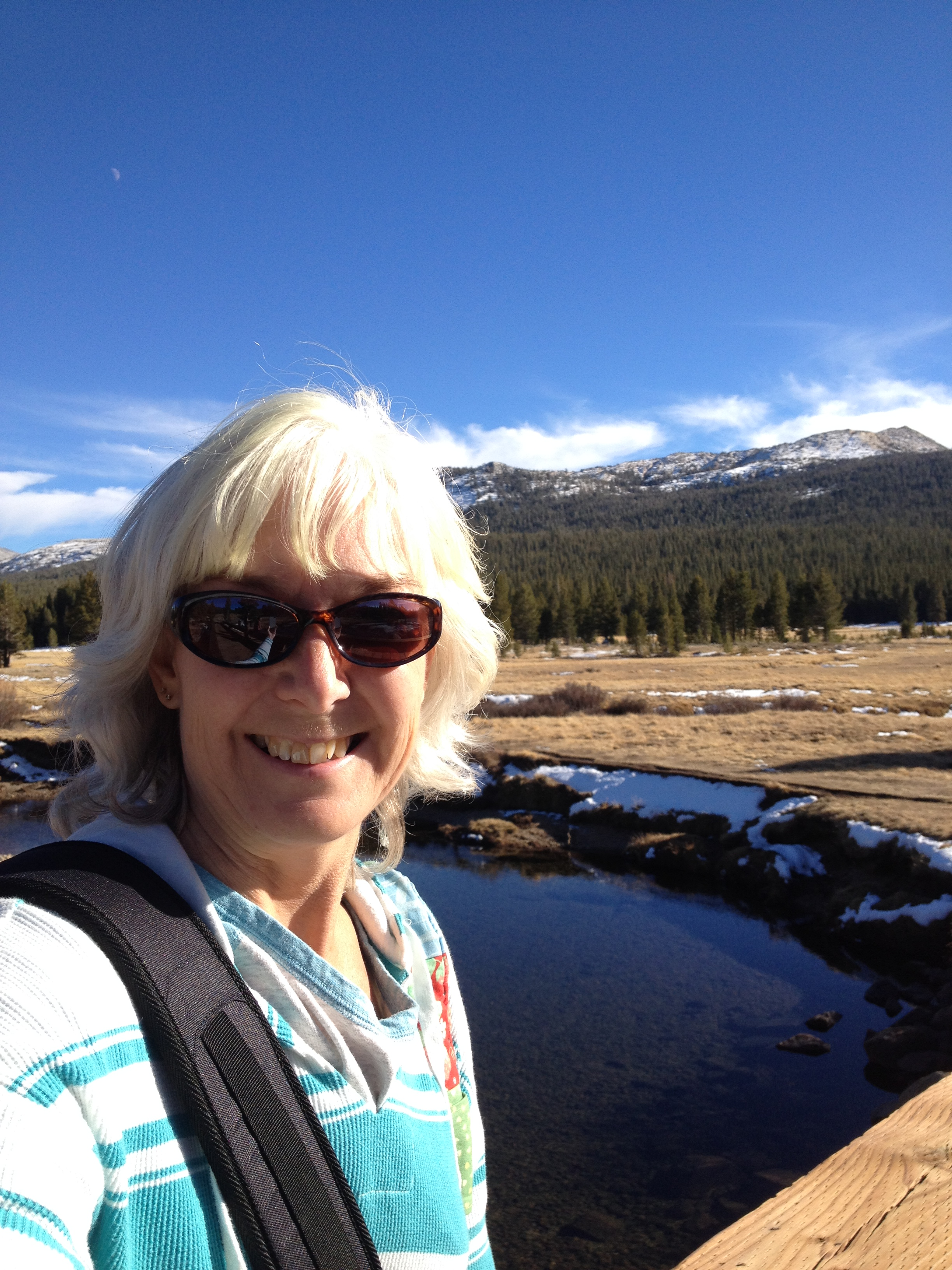 iPhone self portrait at Tuolumne Meadows