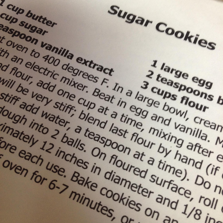 favorite sugar cookie recipe