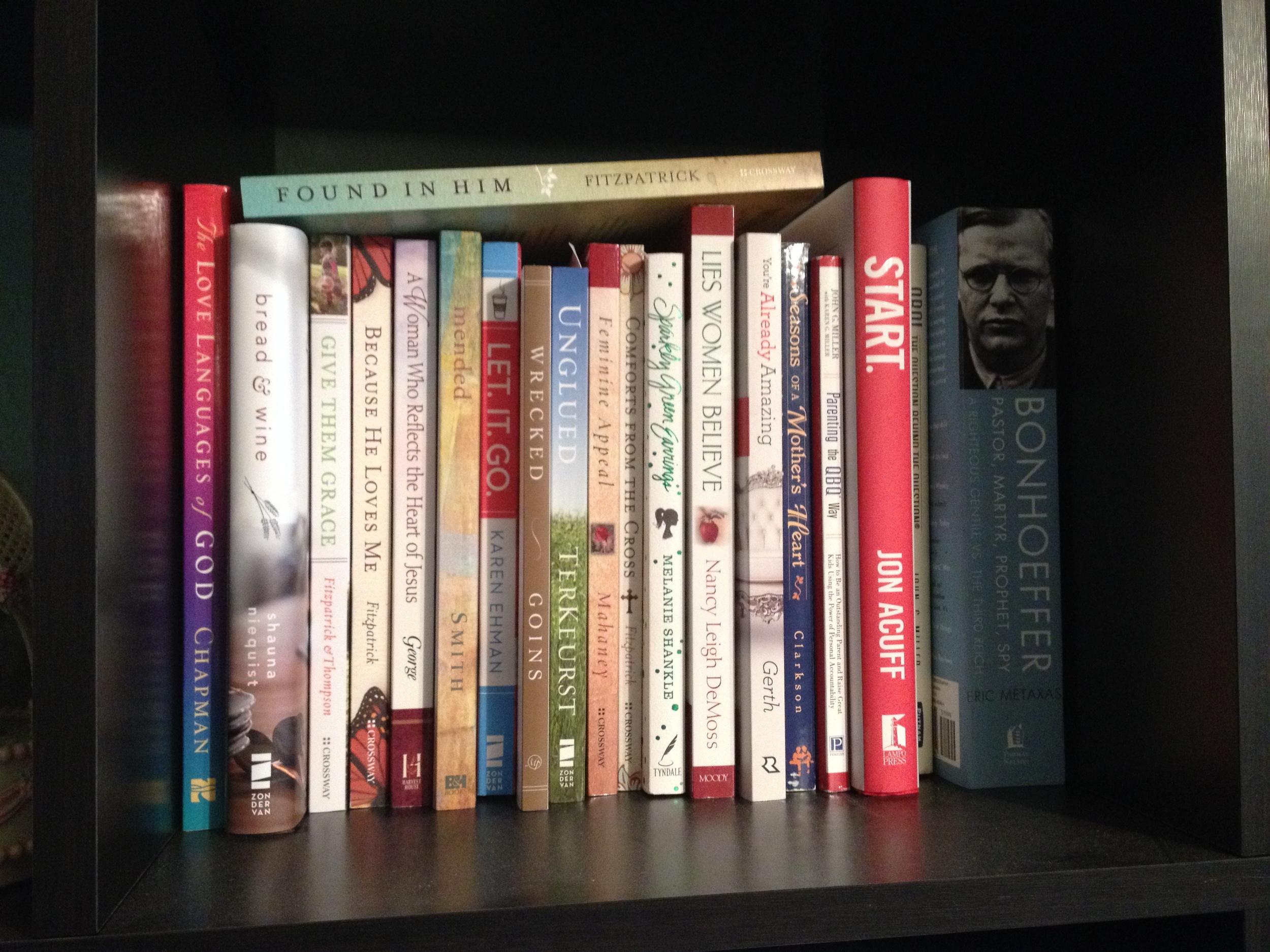 one more full bookshelf