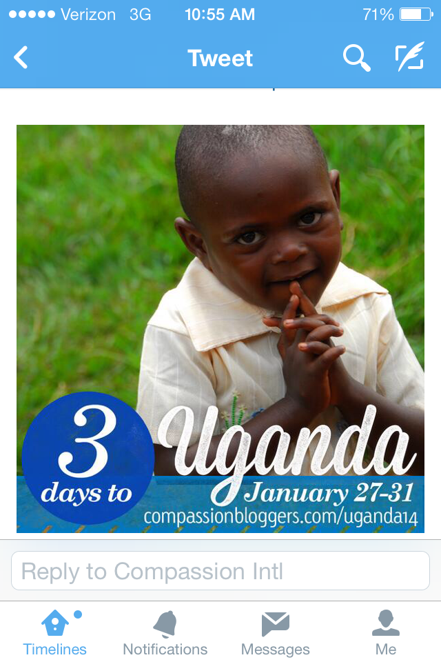 Compassion Bloggers went to Uganda in January