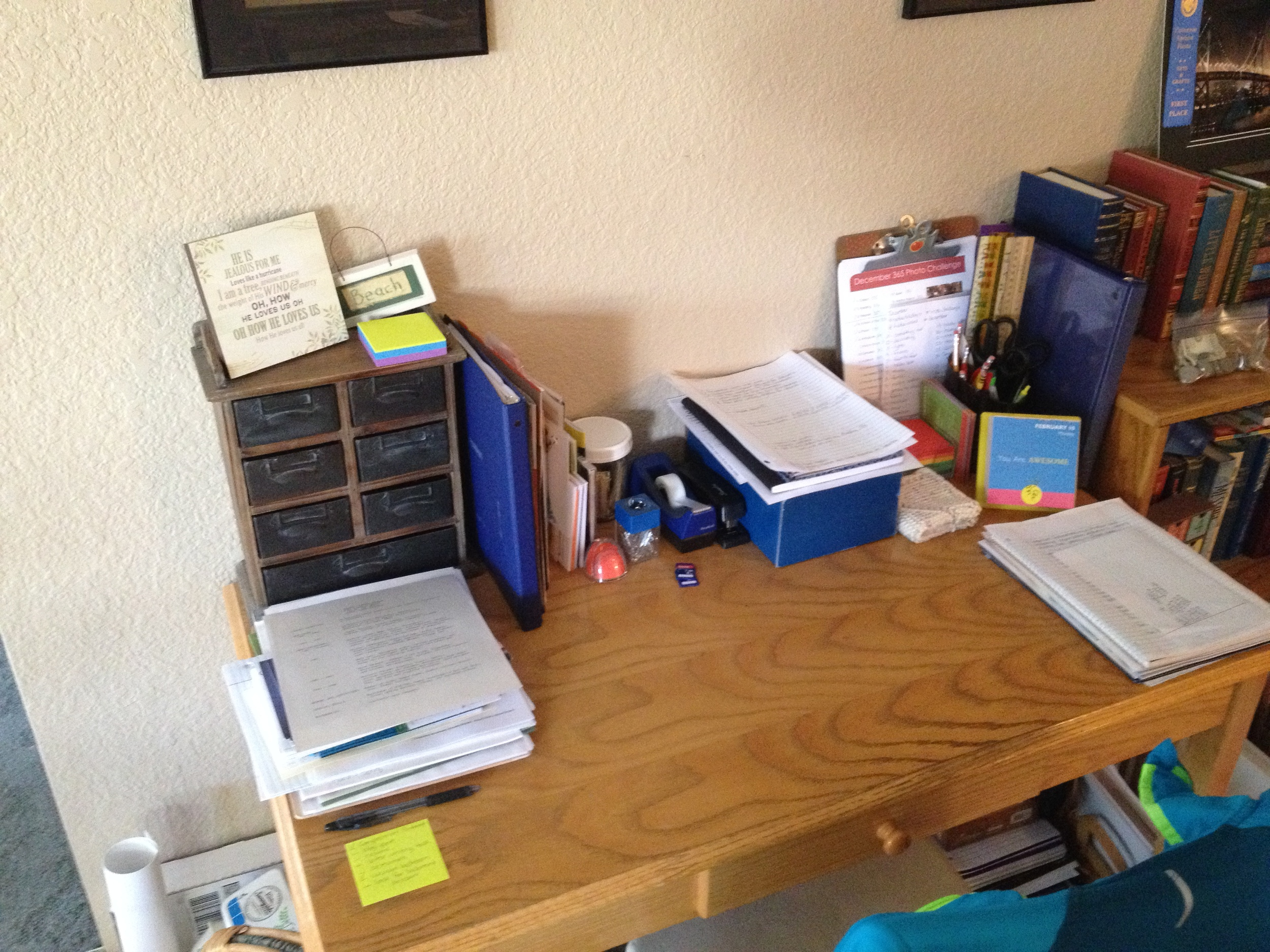 My desk with less clutter!