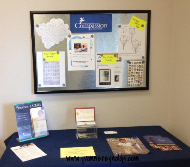 Compassion display at our church