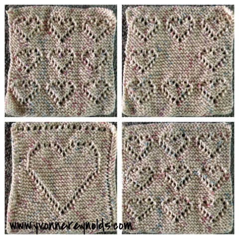 Hand knit dish cloths are my favorite!
