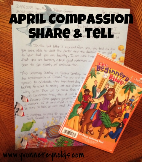 Items for my Compassion sponsored children this month
