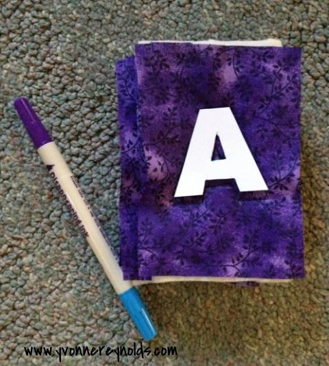 Hard to use purple ink on purple fabric