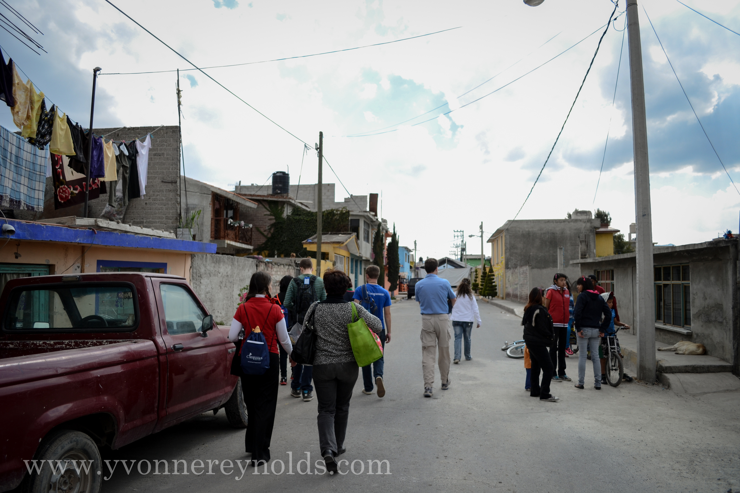 Our walk to Felix's home in Mexico