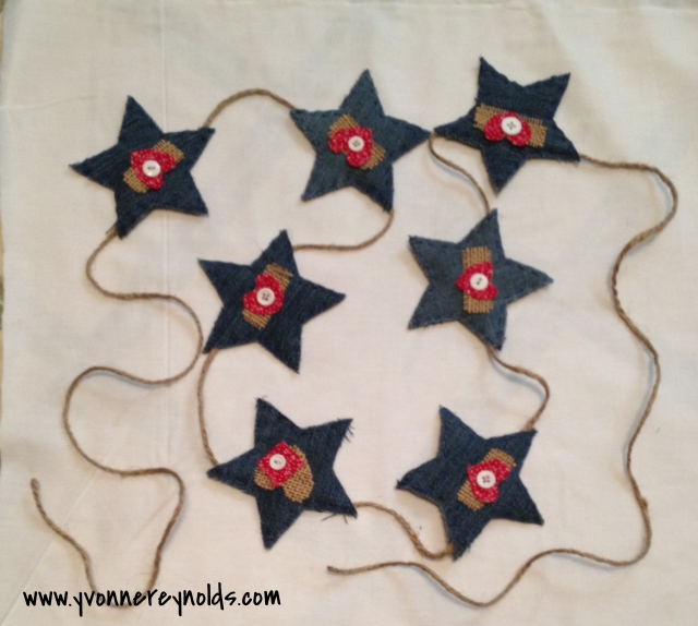 finished star garland