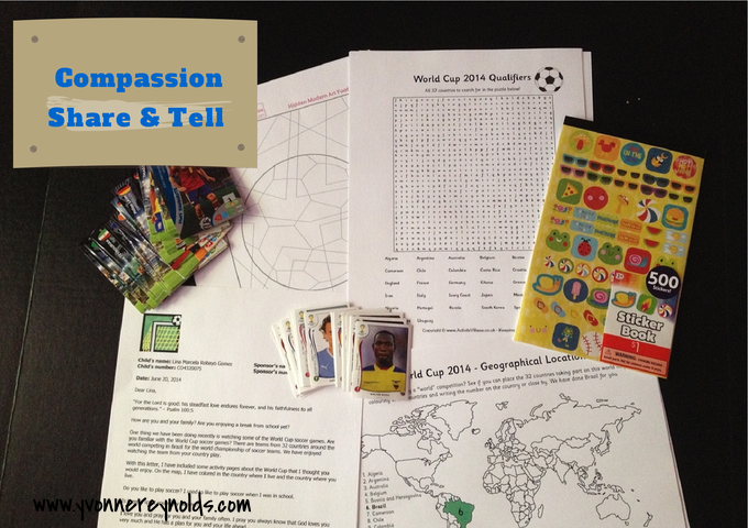 June Compassion Share & Tell mailing