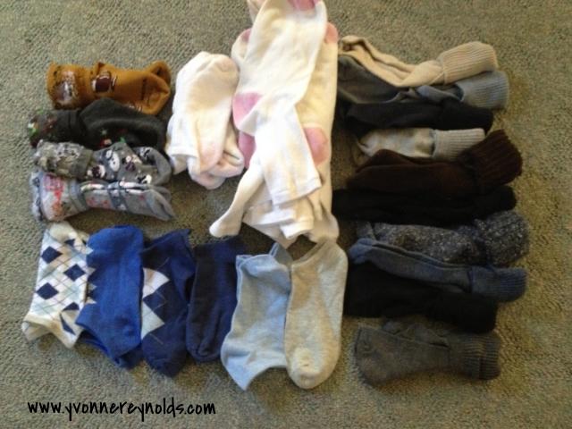 The keep pile of socks