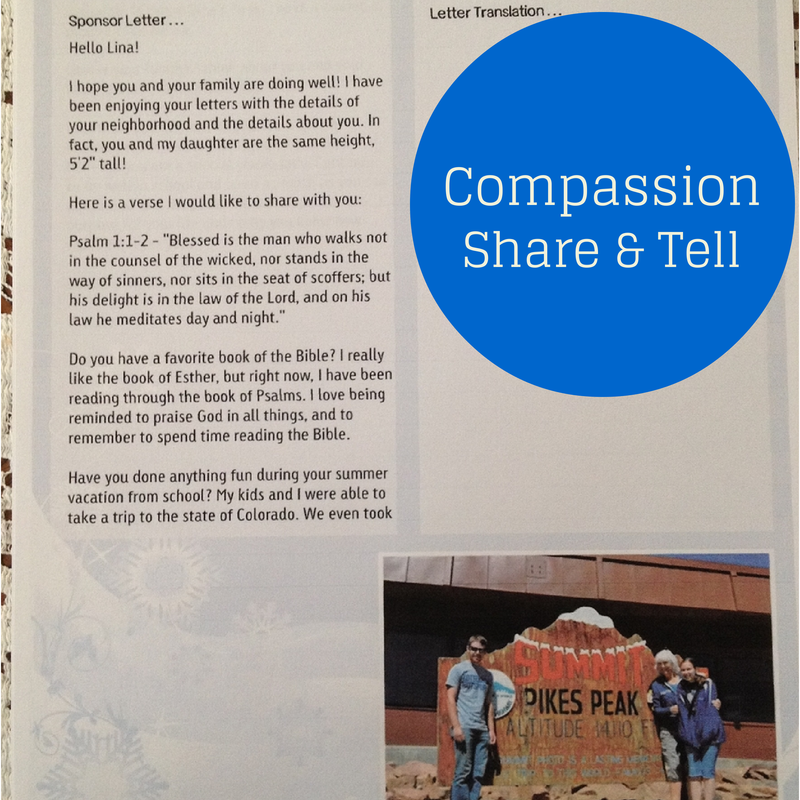 July Compassion Share & Tell