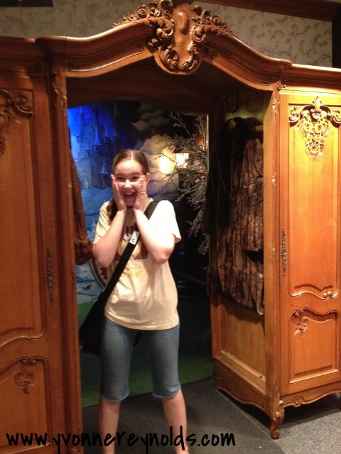 Kelsey was pretty excited when she found Narnia!