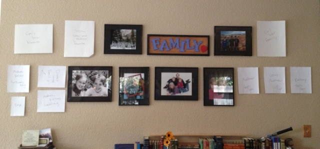 photo templates up on the wall