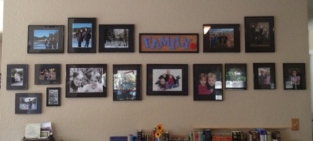 finished photo wall