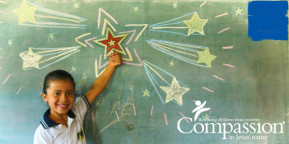compassion child with stars